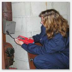 We check furnaces for function and safety.  One of our tools is a flammable gas detector.