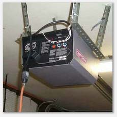 Garage door openers must be on a dedicated outlet.