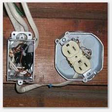 Missing electrical covers, handyman wiring