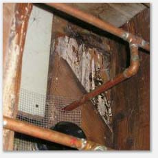 Crawlspace Inspections Rotted Subfloor Leaks Under Bathroom