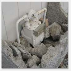 Gas meter inspections, we check for leaks and make sure the shutoff is accessable