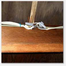 All wire nuts and connections must be in approved electrical boxes.