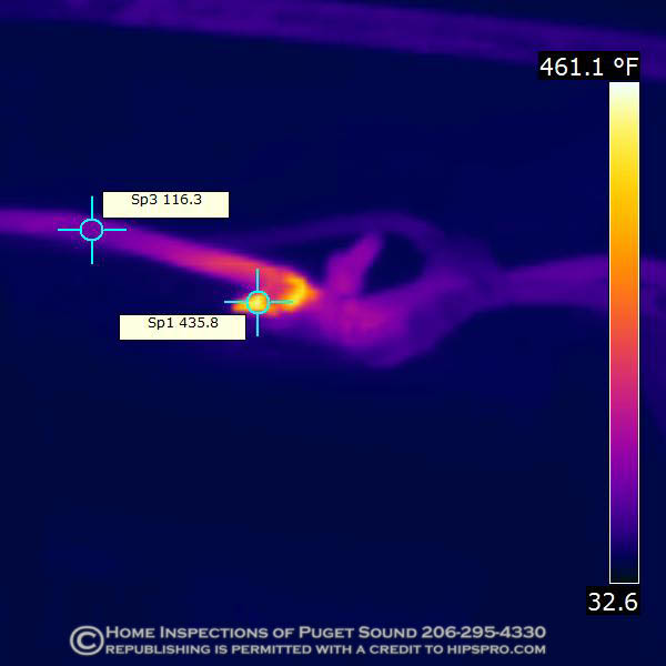 infrared thermal imaging scan seattle, smoldering wires in attic
