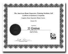 JJ Greive Home Inspector 206 295-4330