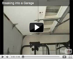 Secure your garage doors with a zip tie!