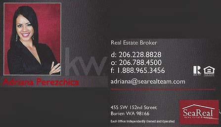 Adriana Perezchica Real Estate Broker  206-228-8828