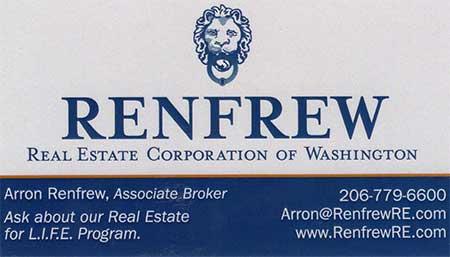Arron Renfrew Real Estate Broker 206-779-6600