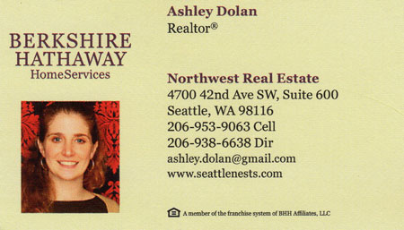 Ashley Dolan Realtor 206-953-9063