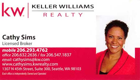 Cathy Sims - Realtor  206-293-4762
