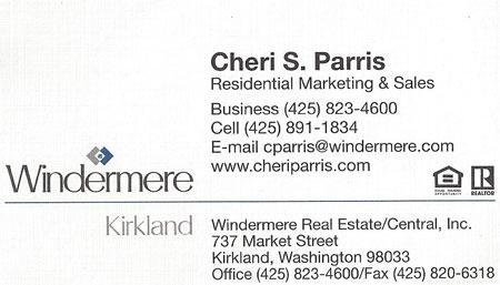 Cheri S. Parris Realtor 425-891-1834