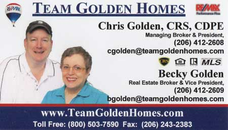 Chris Golden Real estate broker 206-243-2383