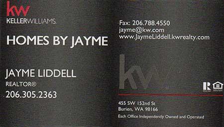 Jayme Liddell Realtor 206-305-2363