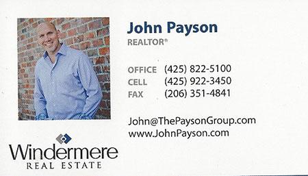 John Payson - Realtor 425-922-3450