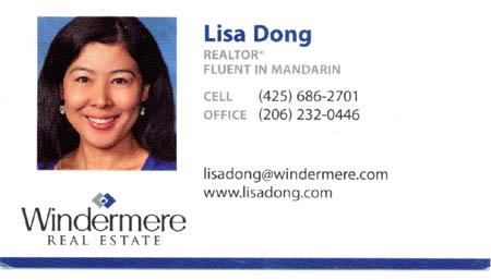Lisa Dong Realtor - Fluent in Mandarin 425-686-2701
