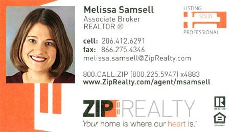 Realtor Melissa Samsell (206) 412-6291