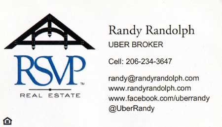 Randy Randolph - Realtor  206-234-3647