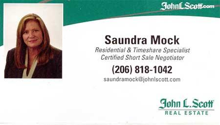 Saundra Mock Realtor 206-818-1042