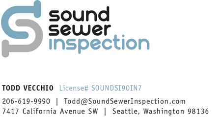 Todd Vecchio Seattle area sewer socping - 206-619-9990