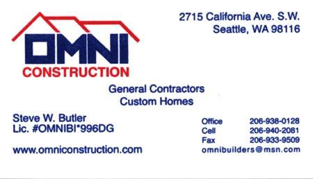 Steve-Butler Omni Construction 206-938-1028