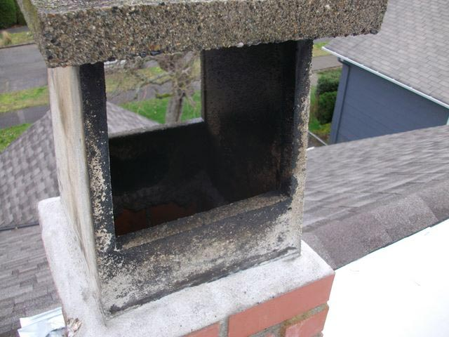 condensation flue gasses causing leaks, will damage chimney