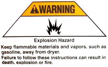 Keep flamables away from all appliances, especially gasoline!