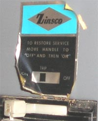 silver foil label with the Zinsco